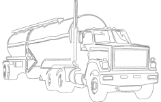 tank truck Free Dxf File for CNC