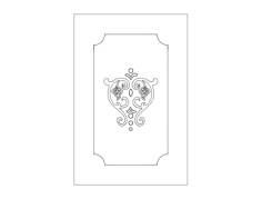 patterns for door Free Dxf File for CNC