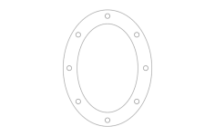 oval pattern Free Dxf File for CNC