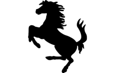 horse galloping silhouette Free Dxf File for CNC