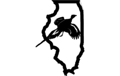 illinois pheasant Free Dxf File for CNC