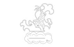 koi Free Dxf File for CNC