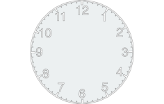clock design Free Dxf File for CNC