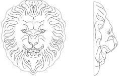 lion 3 Free Dxf File for CNC