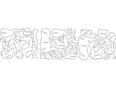 pferd-puzzle-2mm Free Dxf File for CNC