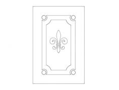 door design elegant Free Dxf File for CNC