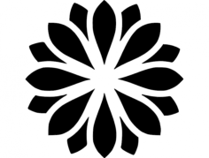 zen flower Free Dxf File for CNC
