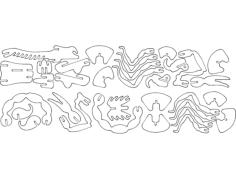 skorpion 3d puzzle Free Dxf File for CNC