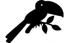 toucan silhouette vector Free Dxf File for CNC