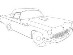 55tbird Free Dxf File for CNC