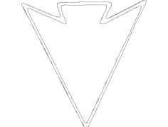 arrow Free Dxf File for CNC