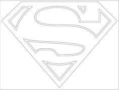 superman logo Free Dxf File for CNC