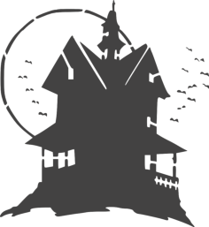 haunted house Free Dxf File for CNC