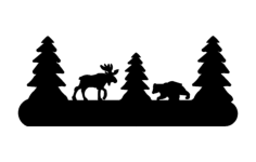 moose and bear Free Dxf File for CNC