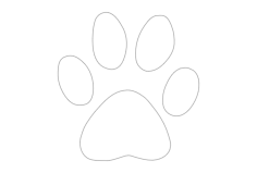 dog paw Free Dxf File for CNC