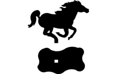 horse mustang Free Dxf File for CNC