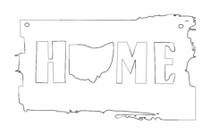 ohio home Free Dxf File for CNC