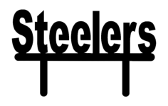 steelers stand Free Dxf File for CNC