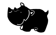 hippo cartoon Free Dxf File for CNC