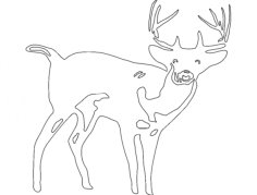 deer 7 Free Dxf File for CNC