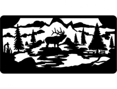 elk wall Free Dxf File for CNC