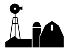 farm barn Free Dxf File for CNC