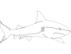 shark Free Dxf File for CNC