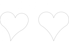 hearts Free Dxf File for CNC
