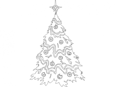 festive things christmas tree Free Dxf File for CNC
