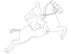 cavalo corrida Free Dxf File for CNC