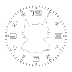 clock hello bat Free Dxf File for CNC