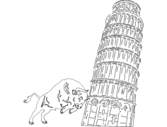 pissa tower Free Dxf File for CNC