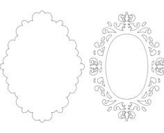 mirror frame 22 Free Dxf File for CNC