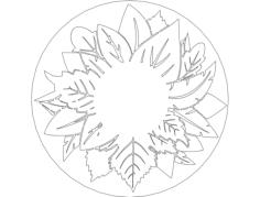листья 250 Free Dxf File for CNC