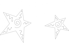 stars Free Dxf File for CNC