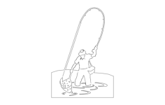 fisherman Free Dxf File for CNC