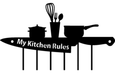kitchen Free Dxf File for CNC