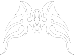 wings 13 Free Dxf File for CNC