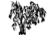 willow tree Free Dxf File for CNC