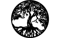 tree of life Free Dxf File for CNC