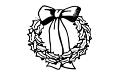xmas wreath Free Dxf File for CNC