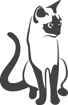 cat sitting 2 Free Dxf File for CNC
