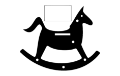 rocking horse silhouette toy Free Dxf File for CNC