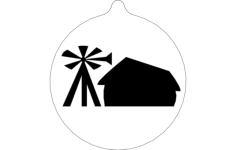 windmill ornament Free Dxf File for CNC
