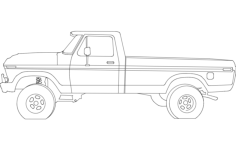 78 ford pickup 17 inches Free Dxf File for CNC