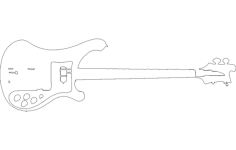 dibujo rickenbacker Free Dxf File for CNC