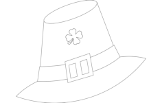 leprechaun hat Free Dxf File for CNC