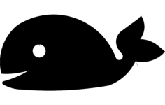 whale silhouette Free Dxf File for CNC