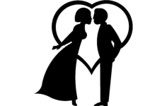 kiss couple Free Dxf File for CNC