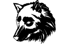 wolf face Free Dxf File for CNC